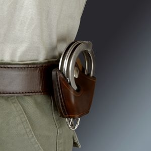 kirkpatrick Leather Compact cuff holder in brown