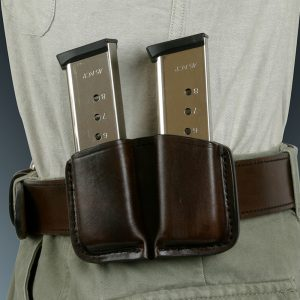 Kirkpatrick Leather Short double mag carrier in brown