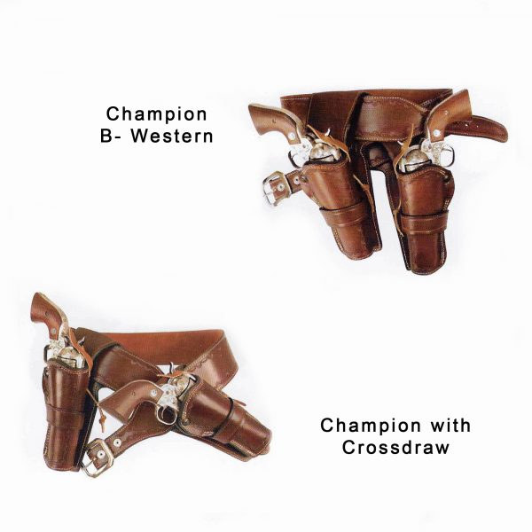 Kirkpatrick Leather Champion B-western and crossdraw western holsters