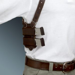 Kirkpatrick Leather K400R Mag carrier for shoulder holster in brown