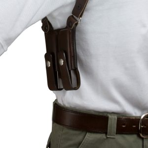 Kirkpatrick Leather K400V mag carrier for shoulder holster