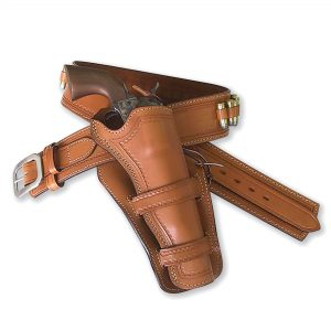 Kirkpatrick Leather Rough Rider Western gun belt for colt revolvers