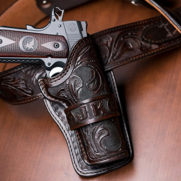 Kirkpatrick Leather Wild bunch western holster in hand tooled