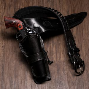 Kirkpatrick Leather Westerner for the colt revolver in black