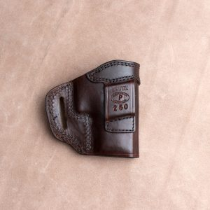 Kirkpatrick TSS gun leather holster for the Sig P250 backside