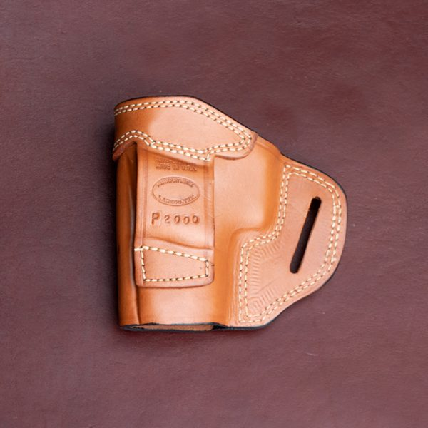 TSS OWB holster for the P2000 in tan backside
