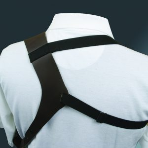 Leather shoulder holster harness