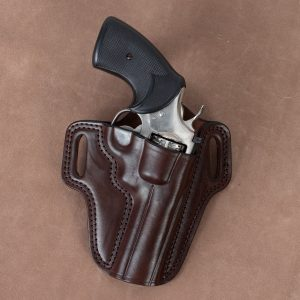 Kirkpatrick Colt Python OWB holster in brown